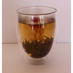 Tall Double Walled Glass Tea Cup